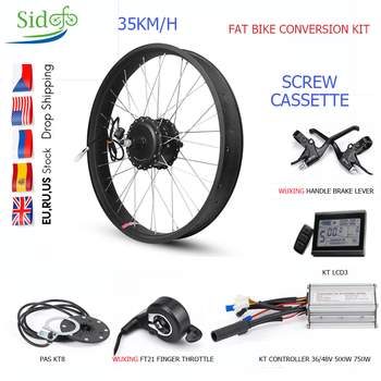 Kit de conversión de Bicicleta eléctrica, 36V/48V, 500V, 750W, Motor de cubo...