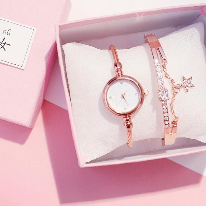 Women Diamond Watch Starry Luxury Bracelet Set Watches Ladies Casual Alloy Band Quartz Wristwatch Female Clock Zegarek Damski