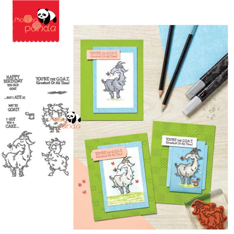 MP145 GOAT Metal Cutting Dies And Stamps Stencil For Scrapbooking Embossing DIY Paper Card Album Handcraft