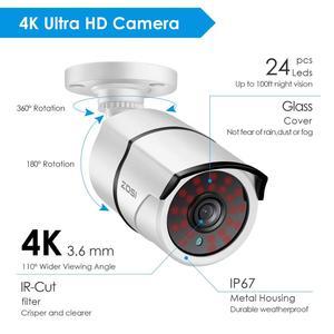 Image 3 - ZOSI Système de Surveillance vidéo Super HD 4K 8 canaux H.265 + DVR avec disque dur de 2 to et caméras étanches 4x4 K (8MP) Ip67