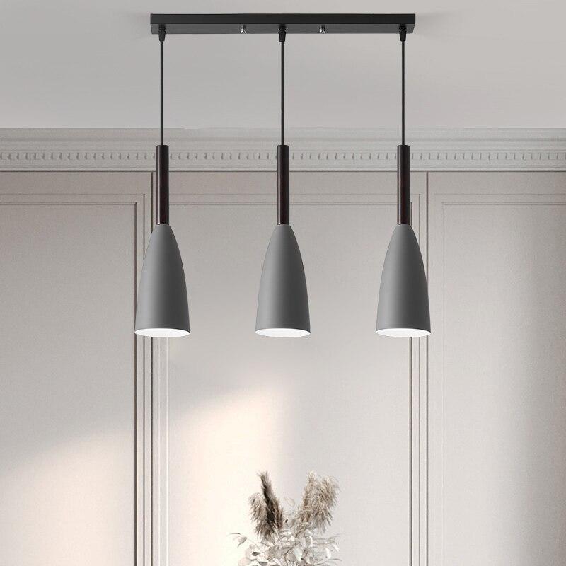 E27 kolye ışıkları LED avizeler Nordic asılı lamba Minimalist kolye ışık mutfak yemek odası aydınlatma armatür ışık