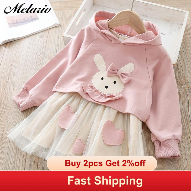 Toddler Girls Autumn Clothes Cute Animal Printed Embroidery Princess Daily Dress