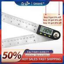 Regla de buscador de ángulo Digital medidor de ángulo Digital de 200mm, goniómetro Digital, medidor de ángulo 2 en 1 con cuchillas de acero inoxidable