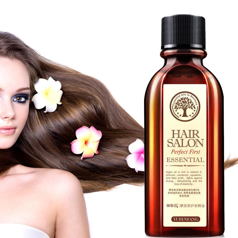 60ML Hair Care Moroccan Pure Argan Oil Hair Essential Oil for Dry Hair Types Multi-functional Hair Care Products for Woman