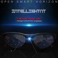 Auto Adjustable Dimming Sunglasses Men Polarized Photochromic Auto Darkenning Discoloration Chameleon Sun Glasses Sport UV400