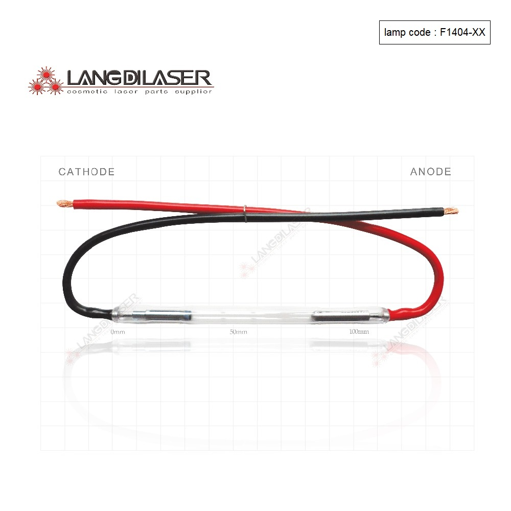 Made In UK Ipl Laser Flash Arc Lamp : 7*50*115F - Wire (5 Pieces Order) For Beauty Laser Machine Using,lamp Code : F1404