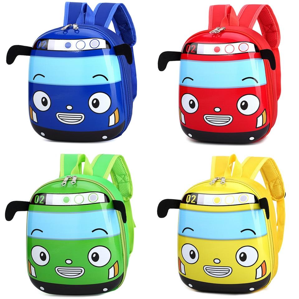 Kid Cartoon 3D Car Shape School Backpack Kindergarten Bookbag for Boys Girls New