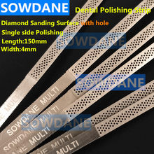 Dental Metal Polishing Stick Polish Strip with Single Side of Diamond Sanding Surface with Hole Saw Tooth Teeth Whitening 4mm