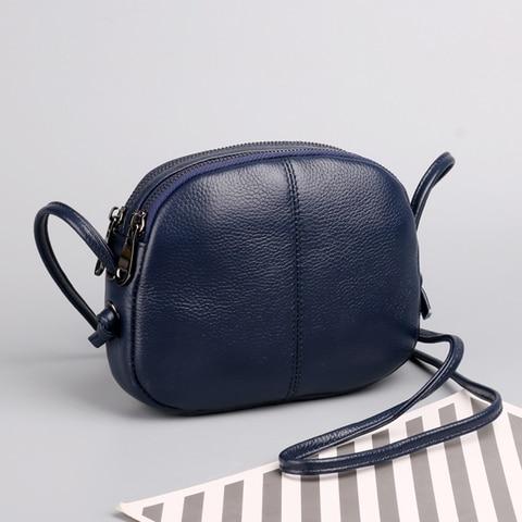 Bolsa de Couro para Mulheres Bolsa de Luxo Bolsa do Mensageiro de Moda Bolsa de Compras Genuíno Senhoras Ombro Crossbody Bolsas Feminina Pequeno Shell
