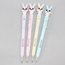 1 Pcs Kawaii 0.5mm/0.7mm Rabbit Automatic Mechanical Pencils Writing Drawing Stationery School Office Supply