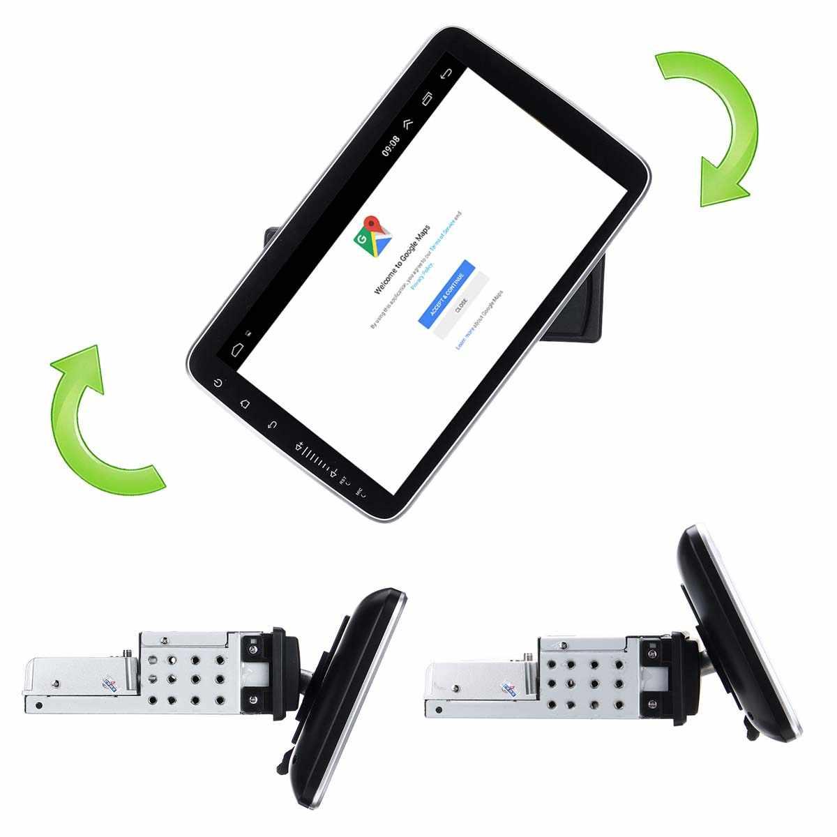 9/10 Cal samochodowy odtwarzacz multimedialny 8 rdzeń 16/32G dla androida 8.0/8.1 z 360 stopni obrotowy ekran GPS WiFi radio odtwarzacz