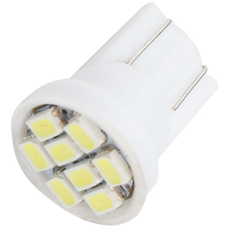 LED Lights 10pcs LED 8 SMD 1206 LED Bulbs 168 192 Warm White Lamp For Auto Wedge Dome Map Reading License Plate Trunk Lights