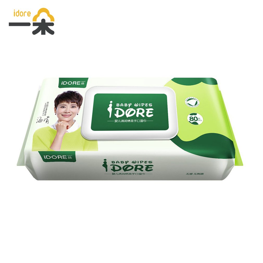 Fast Shipping  Deep Purification Moist Soft Toddlers Infant Baby Wet Wipes Disposable Tissue Skin Cleanser Care 80 Pcs In 1 Pack