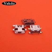 منفذ Micro USB لجهاز Lenovo Vibe A7020 K5 Note ، 100 قطعة ، منفذ شحن ، موصل Meizu M6 meilan 6 لـ Redmi 5 Plus 5pin