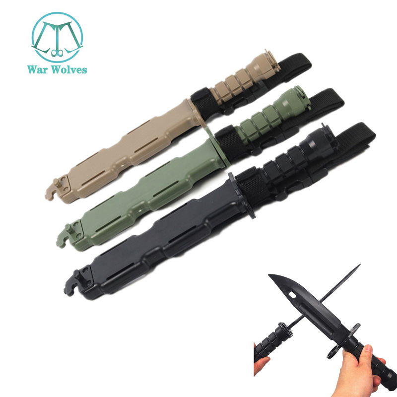 Bayonet Tactical Training Dagger Cosplay Plastics Knife Hunting Rubber Training Knifes Modeling Bayonet Tools CS