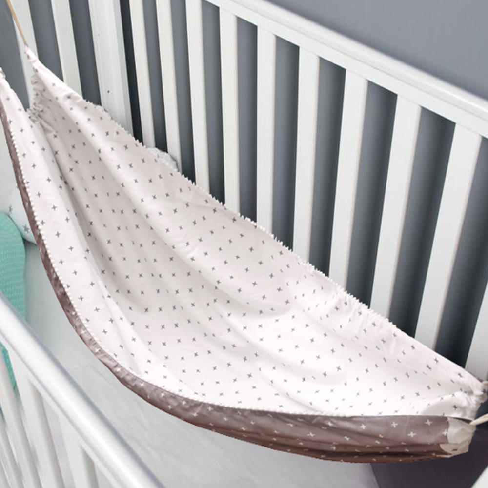 H072374d6264d407495756270001197cf3 Baby Cotton Hammock Swing for Crib Cot Removable Baby Rocking Chair Sleeping Bed Indoor Outdoor Adjustable Hanging Basket