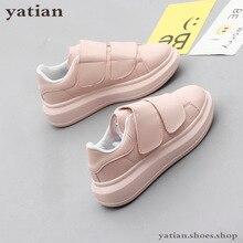 جديد أحذية كورية المرأة منصة الطلاب شقة تنفس الأبيض zapatos دي موهير رياضة السيدات حذاء B0 141