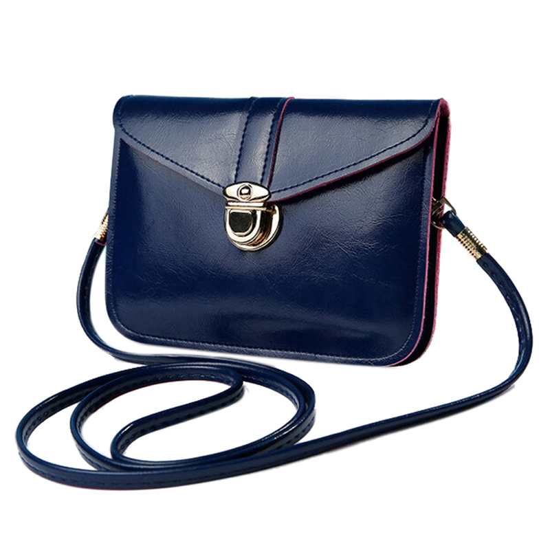 Women Messenger Bags Vintage Style PU Leather Handbag Sweet Cute Cross Body Handbags Clutch Messenger Bags(Dark Blue)