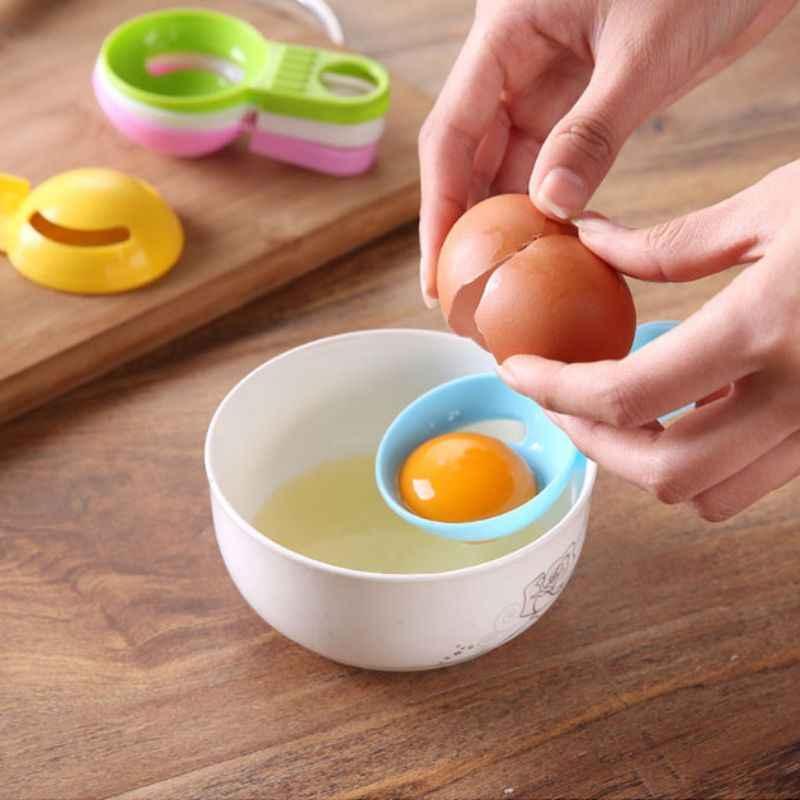 Separador de huevos de cocina filtro blanco yema divisor de huevos de grado alimenticio Extractor de huevos de plástico
