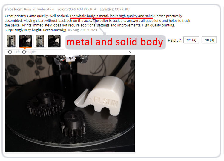 3d printer 5 metal solid body