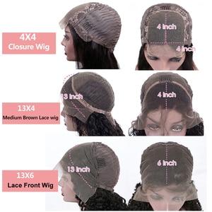 Image 5 - Парик Из прямых человеческих волос на сетке спереди, прямой фронтальный парик для женщин, парик с застежкой 4 х4, парик из 150% прямых человеческих волос