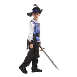 Image 2 - Dzieci dziecko średniowieczny książę król wojownik renesansowy średniowieczny muszkieter krzyżowiec kostiumy dla chłopców Halloween Carnival Party
