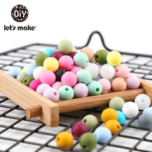 Let'S Make 500pc Silicone Beads 9mm Baby Toys Diy Crafts Tee