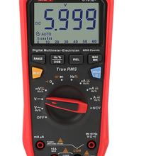 Портативный Профессиональный цифровой мультиметр UT61B + UT61E + UT61D, тестер, блок True RMS, автоматический диапазон, 6000 отсчетов, постоянный ток, 1000 в