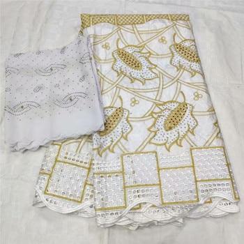 basin riche getzner white&gold african lace material guinea brocade fabric bazin riche fabric nigeria lace women scarf L82-789