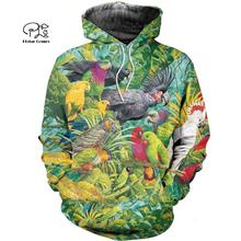 PLstar Cosmos Parrot Art Animal Tracksuit 3DPrint Hoodie/Sweatshirt/Jacket/shirts MenWomen Casual Harajuku camo colorful style-1