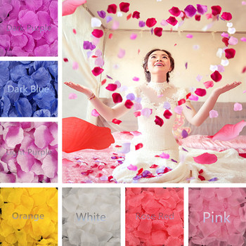 500 sztuk sztuczny jedwabny kwiat płatki na wesele dekoracje na imprezy okolicznościowe czerwony różowy biały niebieski 5Z SH012-500 tanie i dobre opinie Sky Elina Sztuczne Kwiaty Róża Ślub Papier Flowers False Petal romantic Rose Petals wedding petals Artificial Flowers