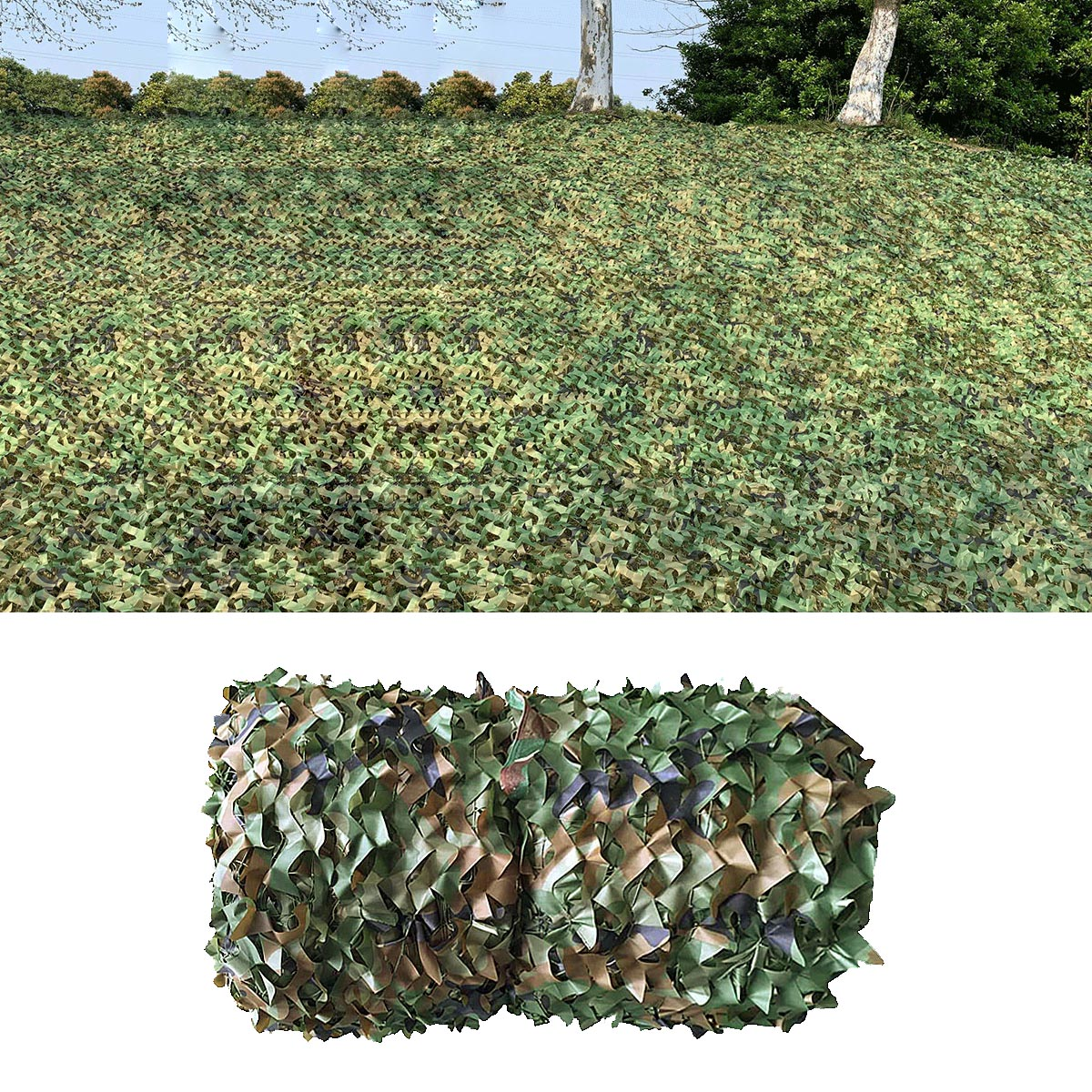 1X1m To 2X12m Camping Camouflage Nets Mesh Woodland Jungle Camo Net Hunting Shooting Fishing Shelter Hide Netting