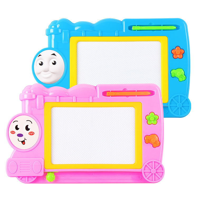 Children Magnetic Train Writing Board Plastic Color Sketchpad Small Blackboard Infants Early Education Graffiti GIRL'S And BOY'S