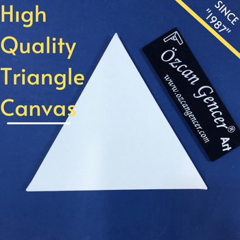Triangle Wood Framed Pre-Stretched Blank Art Canvas Oil Painting Panel Frame for Cotton Panels