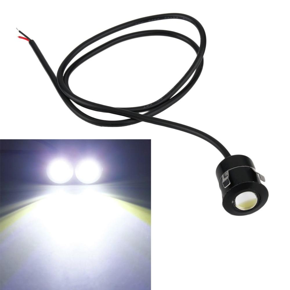 New 9W White Radar Eagle Eye Lights 12V Daytime Running Light Reverse Fog Lamps