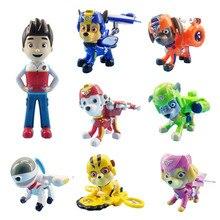 цены на Paw Patrol 8 Pcs/set Ryder Air Rescue Dog Cartoon Model Chase  Patrols Pups Anime Action Figure Toy Child Birthday Xmas Gift  в интернет-магазинах
