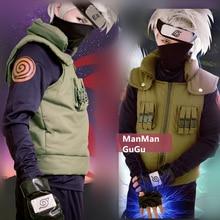 Anime Hatake Kakashi Cosplay Costume Halloween Clothes vest shirt pant headband set custom made size