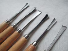 Fixmee 6 uds tamaños de arcilla, cera cincel cuchillo para tallar herramientas w/manijas de madera