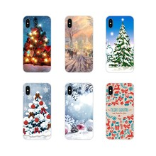 TPU Case For LG G3 G4 Mini G5 G6 G7 Q6 Q7 Q8 Q9 V10 V20 V30 X Power 2 3 K10 K4 K8 2017 happy New Year Christmas Tree Snow Flakes(China)