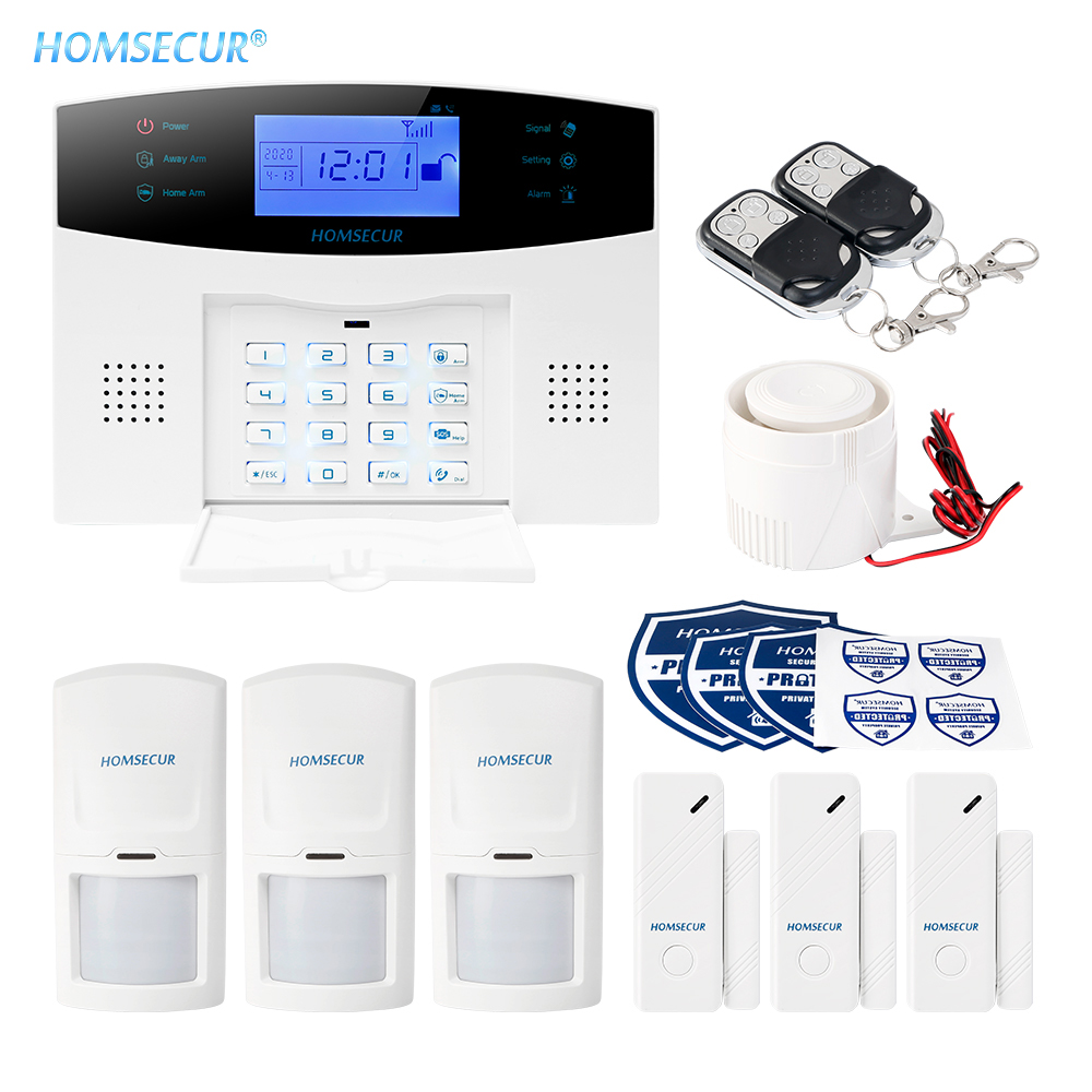 HOMSECUR Wireless&Wired GSM-2G SMS Autodial Burglar Alarm System+IOS/Android APP