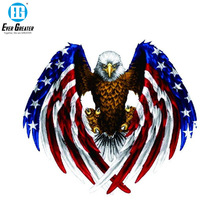 19CM*17CM USA Bald Eagle Flag Car Sticker and Decal PVC