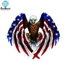 19cm * 17cm eua águia careca bandeira carro adesivo e decalque pvc
