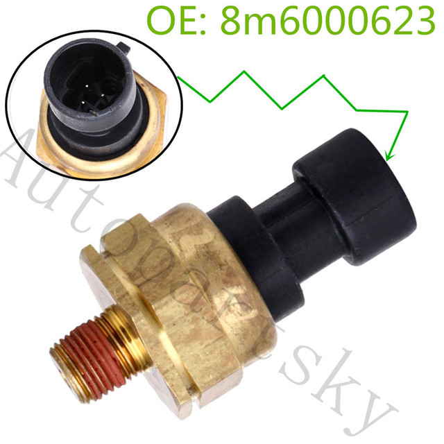 $ 16.5 8M6000623 Water Pressure Sensor 3 pins Car-Styling Auto Replacement parts For Mercruiser Quicksliver 8818793 8818790 MM273376