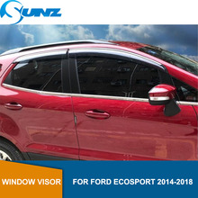 цена на Car Wind Deflector Smoke Car Window Deflector Visor Vent Rain Guard For FORD ECOSPORT 2014 2015 2016 2017 2018 SUNZ