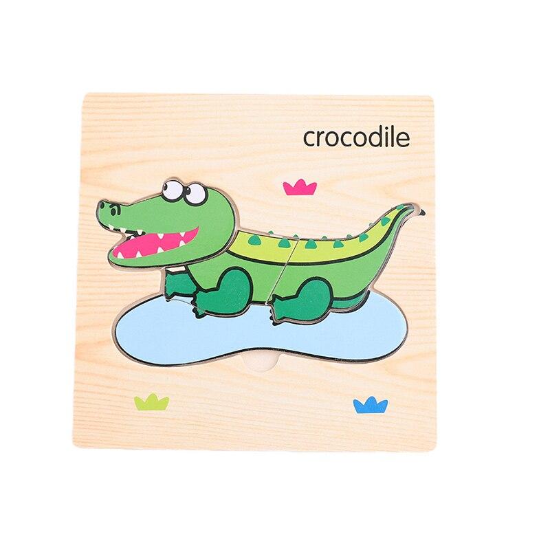 Let'S Make 1 шт. игрушки Монтессори квадратный деревянный пазл мультфильм Ранние развивающие детские игрушки деревянный пазл, игрушки - Цвет: 06