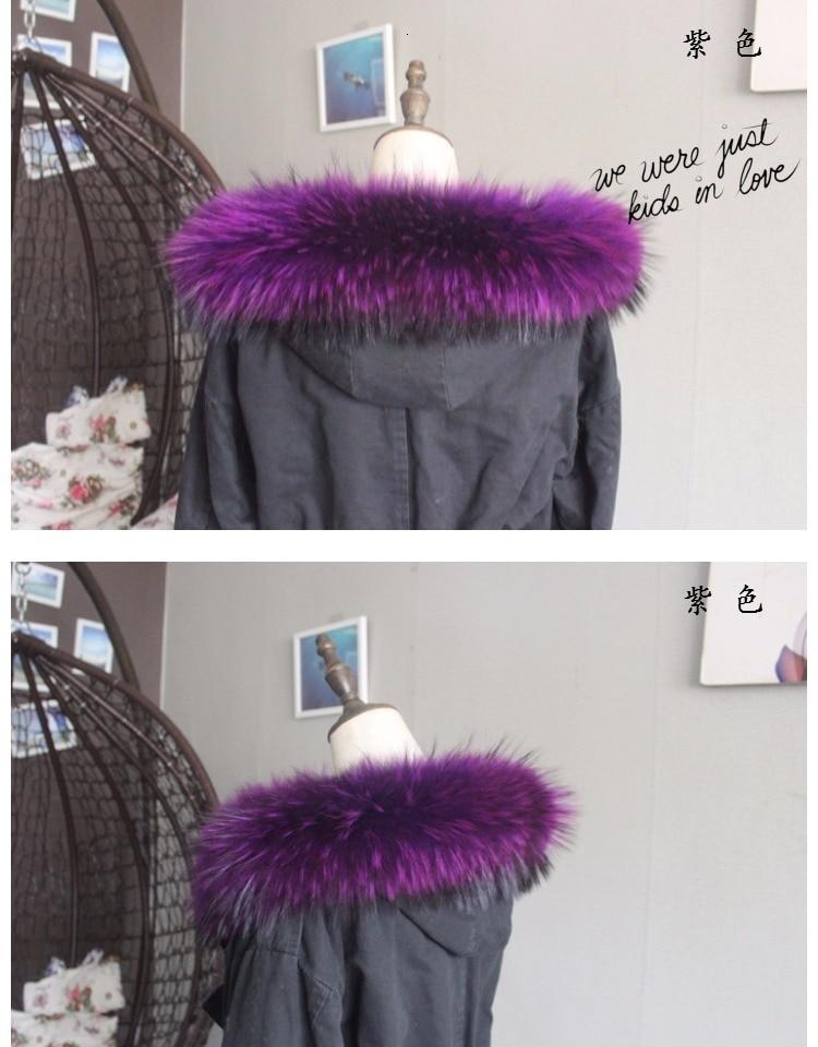 Зимняя куртка из натурального меха, воротник из натурального меха енота, женские шарфы, пальто, женская шапка, длинный теплый шарф из натурального меха, большой размер