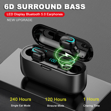 USLION TWS Earphones Bluetooth 5.0 Wireless Headphones For Xiaomi iPhone Samsung Waterproof Sports Earbuds Noise Cancel Headset