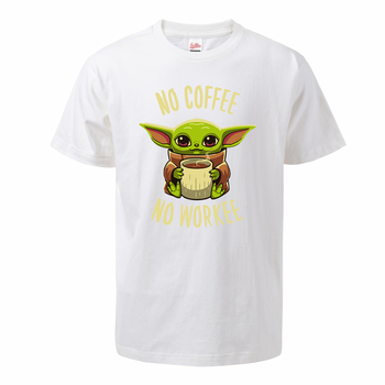 The Mandalorian Baby Yoda T Shirt For Men 2020 Summer Cotton Cute Young Yoda No Coffee No Workee Short Sleeve Tee Cool Male Tops 4