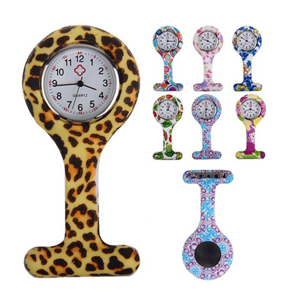 Silicone Fashion Silicone Nurses Watch Brooch Tunic Fob Pocket Stainless Dial Watches  H9