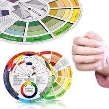 Принадлежности для татуировки, цветные колеса, бумага для чернил, аксессуары, профессиональное оборудование для татуировки, пигменты, колесо с образцами, Перманентный макияж